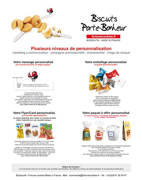 Fortune cookies - Biscuits Porte Bonheur Made in France