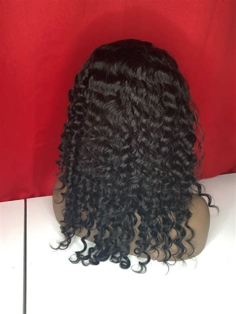 Silver Front lace Wig deep wave