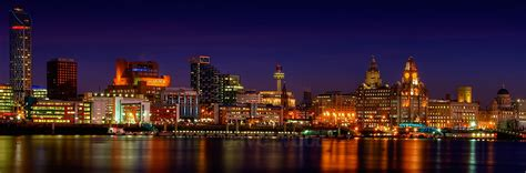 Liverpool Waterfront at Night | October 2008 | Dave Wood