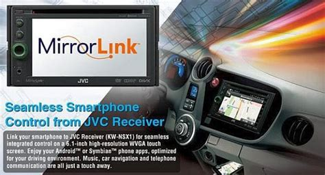 Android apps in car with JVC MirrorLink Receiver – Product