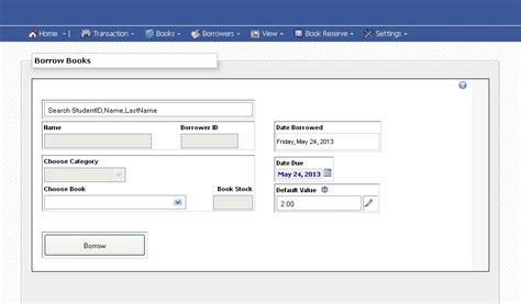 Library Book Borrowing and Returning System | Free Source