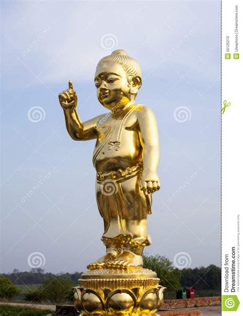 The Important Baby Buddha Gold Statue