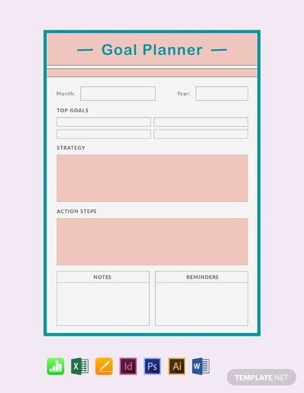 FREE Goal Planner Template - Word (DOC) | Excel | PSD
