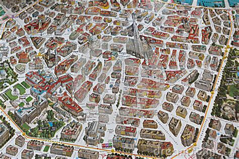 Street Map With Buildings Of Vienna Stock Photo - Image