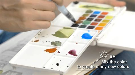 Sakura - How to Paint with Koi Water Colors Pocket Field