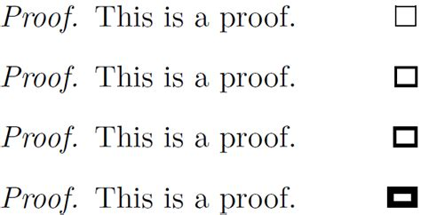 symbols - How to make a box bold at the end of proof