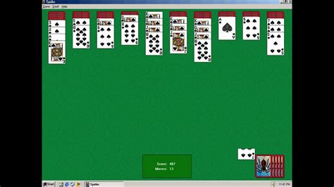 Spider Solitaire on Windows ME - YouTube