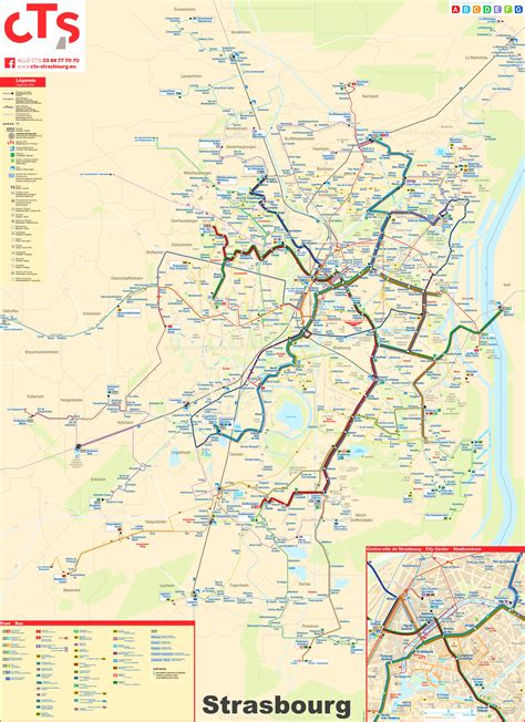 Strasbourg bus and tram map