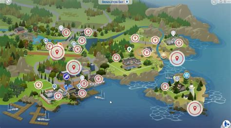 The Sims 4 Cats & Dogs: Brindleton Bay Interactive Map