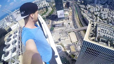 ROOFTOP PARKOUR in 187m   Tel Aviv - ISRAEL Tag 4 - YouTube