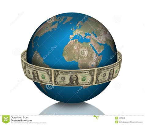 Global Business, Earth, Money Royalty Free Stock Photos
